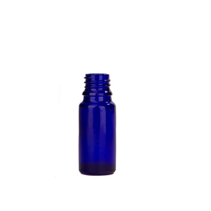 Flesje glas 10ml all-round DIN18 blauw