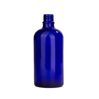 Flesje glas 100ml all-round DIN18 blauw