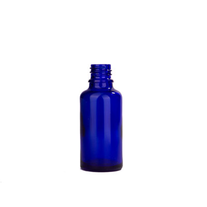 Flesje glas 30ml all-round DIN18 blauw