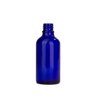 Flesje glas 50ml all-round DIN18 blauw